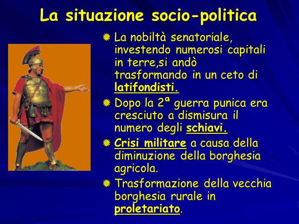 Nel secondo anno di tribunato Caio propose: La concessione della cittadinanza romana ai socii italici.