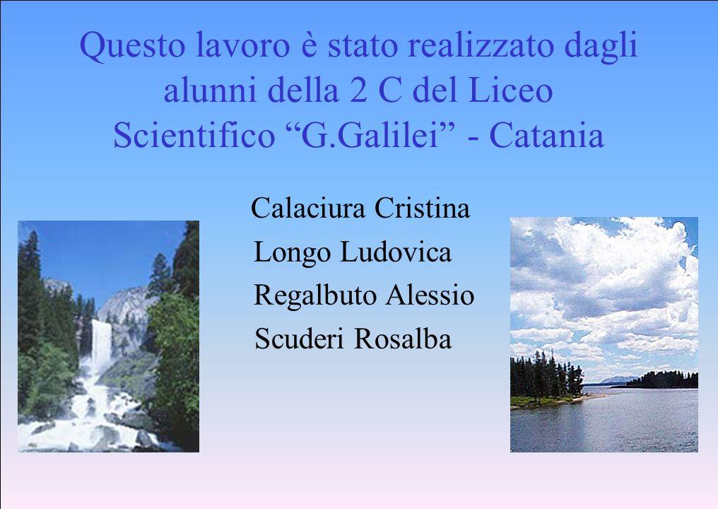 Questo lavoro è stato realizzato dagli alunni della 2 C del Liceo Scientifico G.Galilei - Catania Calaciura Cristina Longo Ludovica Regalbuto Alessio