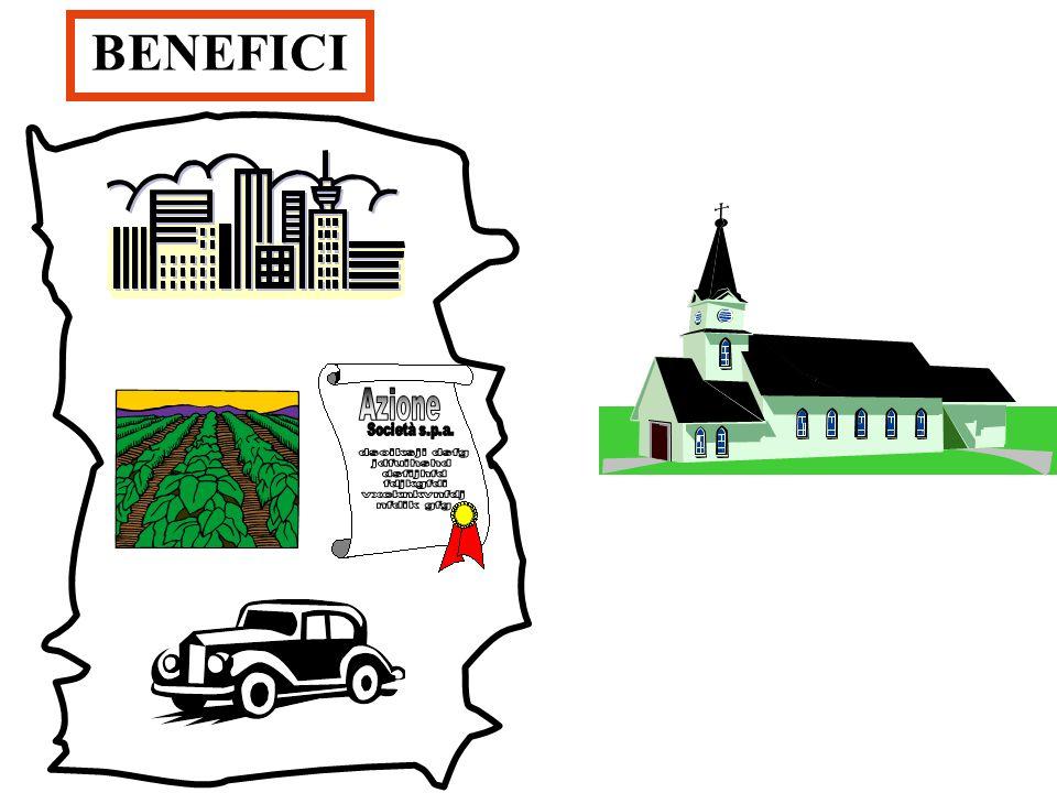 IL BENEFICIO Lufficio ecclesiastico - es. la parrocchia - viene affiancato da una persona giuridica denominata beneficio. Il beneficio è dunque una do