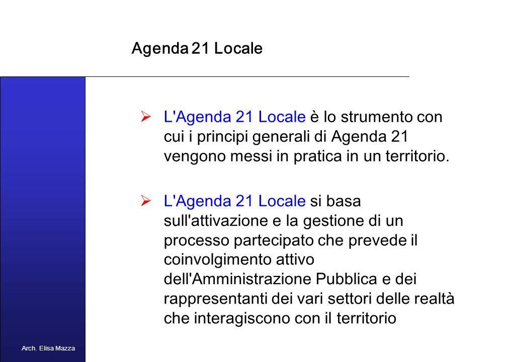 MANCUSO 2005 Agenda 21 Che cosè Agenda 21.