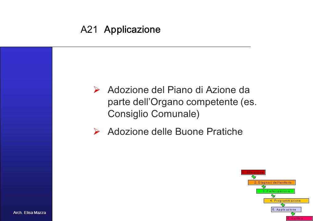 MANCUSO 2005 A21 Programmazione Attivazione delle sessioni plenarie Eventuale attivazione di gruppi di lavoro tematici Redazione del Piano di Azione Locale Presentazione del Piano e Monitoraggio (set di indicatori ad hoc) Arch.