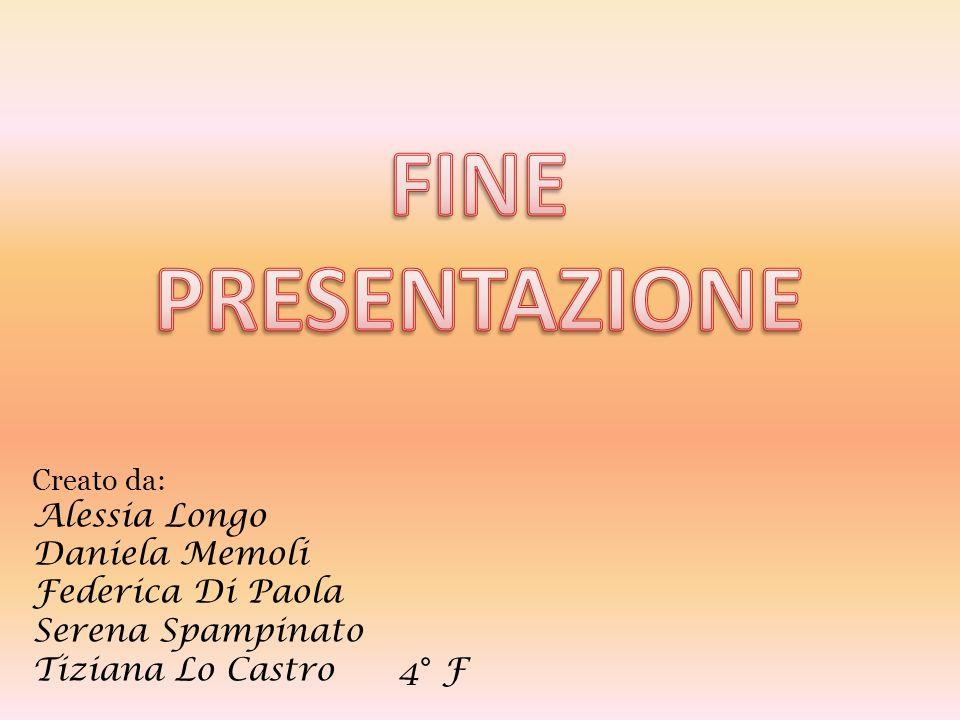 Creato da: Alessia Longo Daniela Memoli Federica Di Paola Serena Spampinato Tiziana Lo Castro 4° F