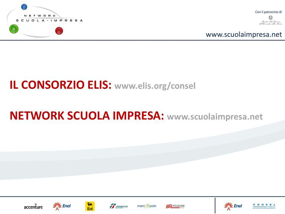 IL CONSORZIO ELIS: www.elis.org/consel NETWORK SCUOLA IMPRESA: www.scuolaimpresa.net