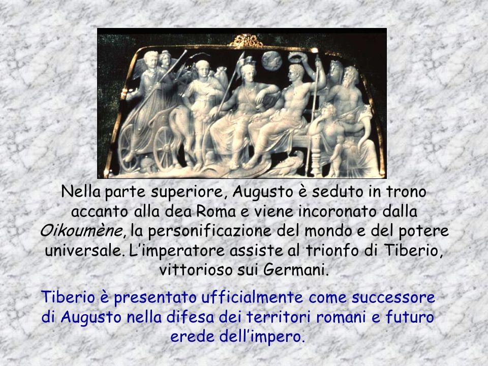 Una delle produzioni artistiche più raffinate nelletà augustea è la lavorazione dei cammei, destinati allaristocrazia. Questi gioielli, con le loro co