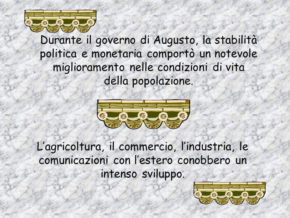 Due sono i termini chiave per comprendere pienamente il principato augusteo: e Augusto intervenne in ogni ambito della vita del popolo romano, compien