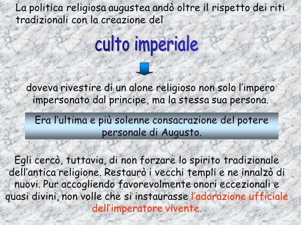 Il Pontefice Massimo presiedeva il COLLEGIO DEI PONTEFICI Esercitava la suprema vigilanza sul culto, sulle istituzioni religiose, sui sacrifici. Redig