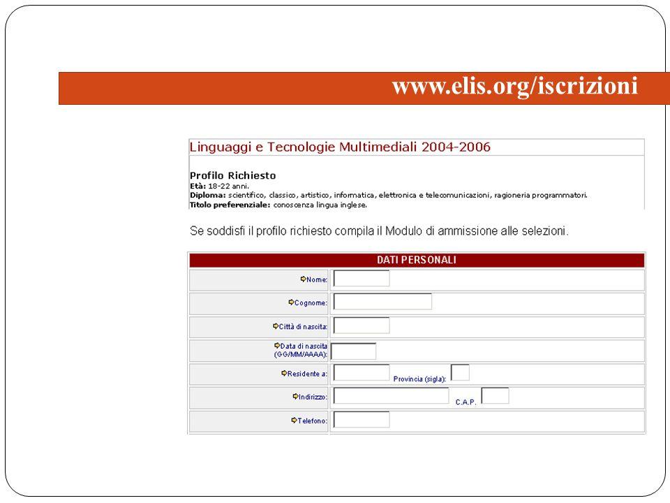 www.elis.org/iscrizioni