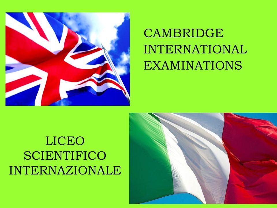 dallUniversità di Cambridge IGCSE sono certificazioni rilasciate dallUniversità di Cambridge per le discipline studiate in inglese.