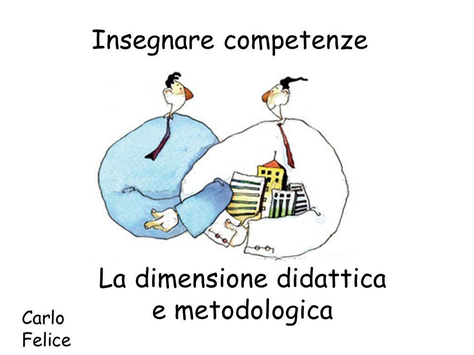 Insegnare competenze La dimensione didattica e metodologica Carlo Felice