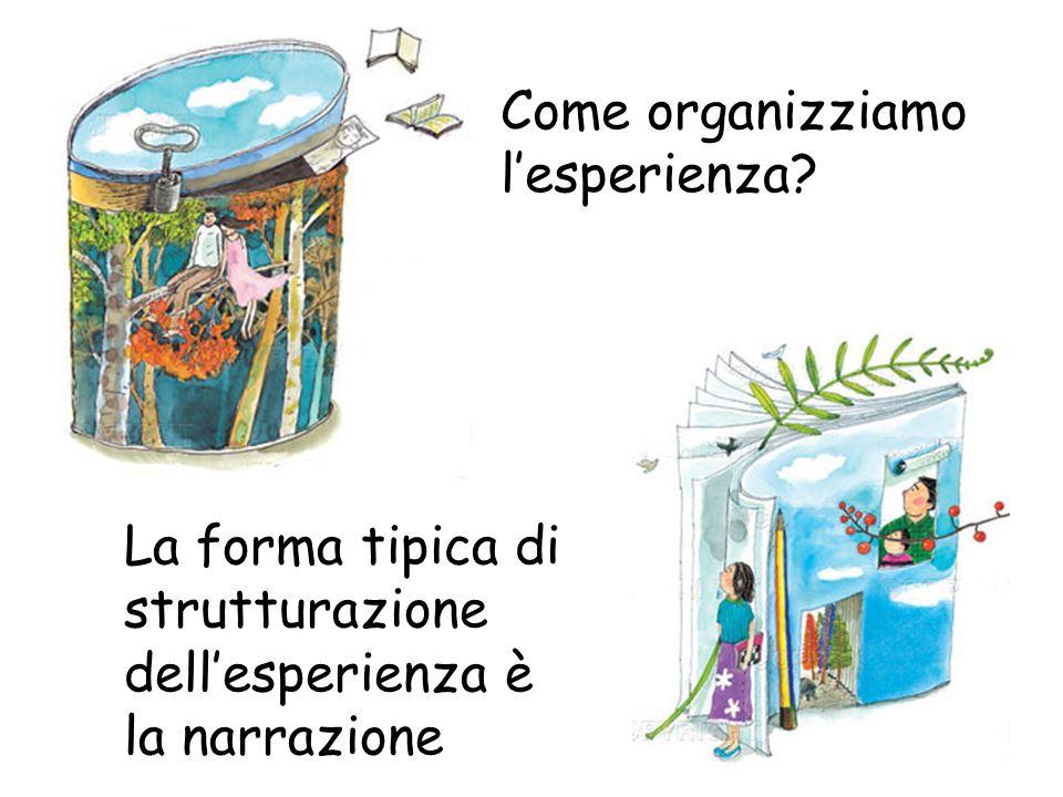 La forma tipica di strutturazione dellesperienza è la narrazione Come organizziamo lesperienza?