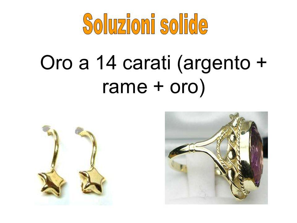 Oro a 14 carati (argento + rame + oro)