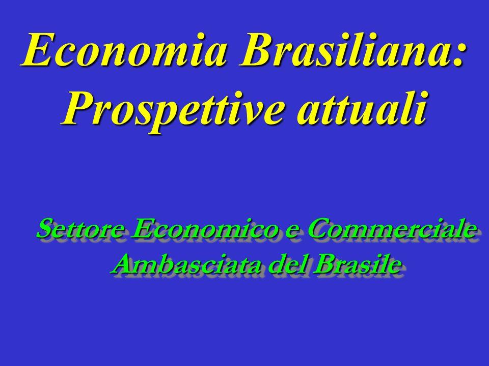 Economia Brasiliana: Prospettive attuali Settore Economico e Commerciale Ambasciata del Brasile