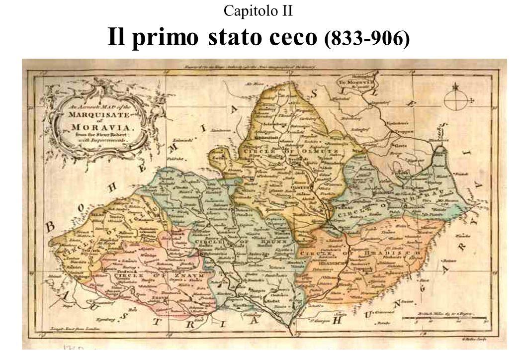 2.1 La Grande Moravia ARANCIONE: sotto Rotislao (846-870) GIALLO: sotto Svatopluk (870-894) BEIGE: dipendente tributariamente al principato