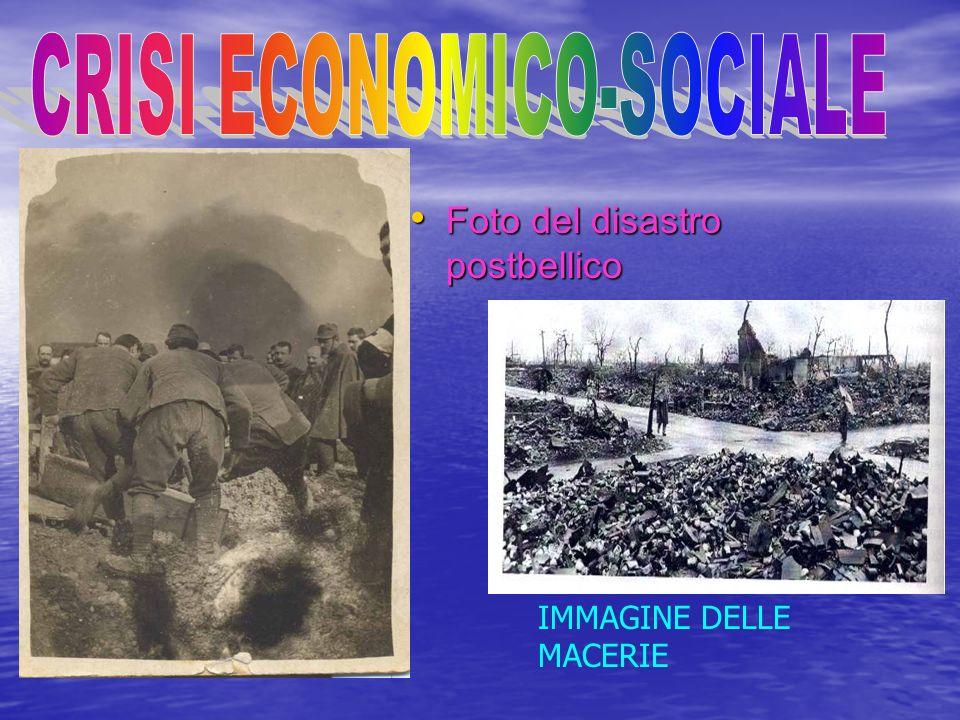 Foto del disastro postbellico Foto del disastro postbellico IMMAGINE DELLE MACERIE