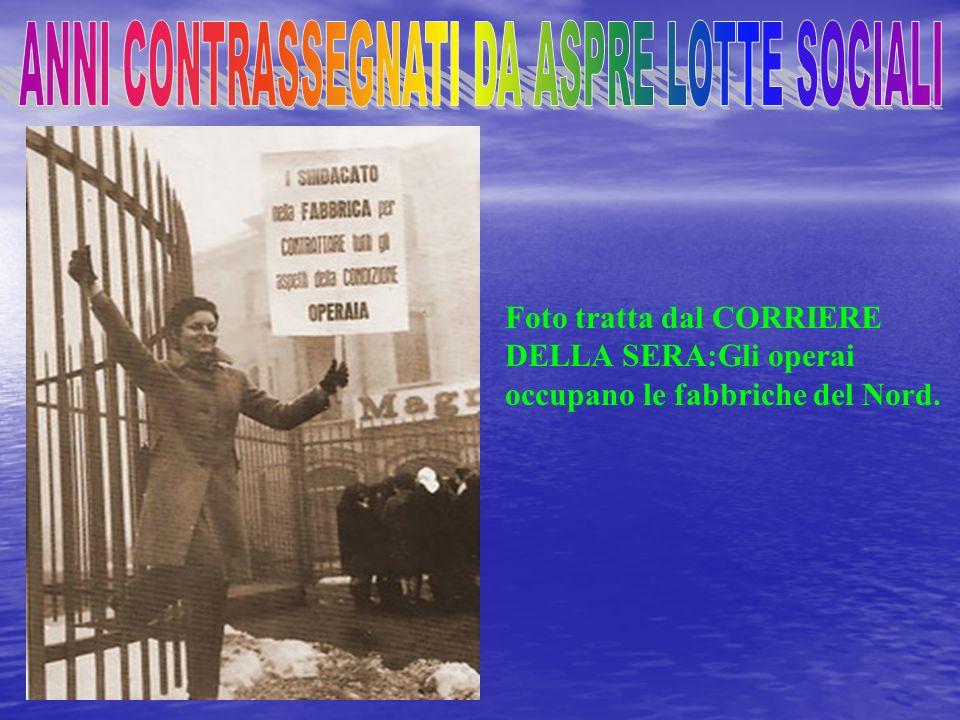 TAVOLA TRATTA DAL CORRIERE DELLA SERA:protesta per linserimento dei reduci.