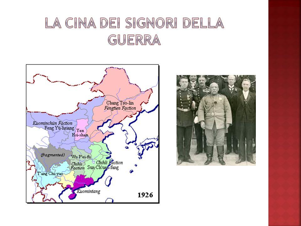 PCC 1921 Shanghai Dottrina Socialista Appoggiato dallURSS GMD 1912 Beijing Dottrina dei Tre Principi del Popolo Appoggiato dalla borghesia FRONTI UNITI 1924-27 Signori della Guerra 1937-39 Dominio Giapponese