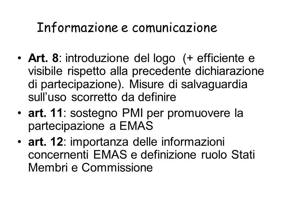Informazione e comunicazione Art.