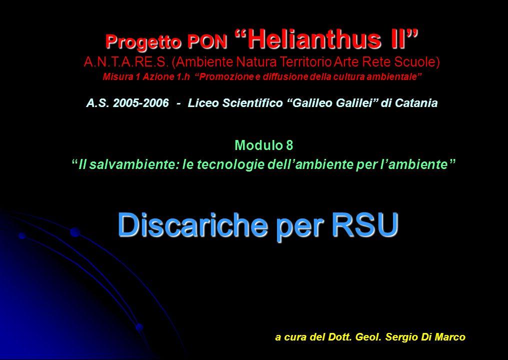 Progetto PON Helianthus II Progetto PON Helianthus II A.N.T.A.RE.S. (Ambiente Natura Territorio Arte Rete Scuole) Misura 1 Azione 1.h Promozione e dif