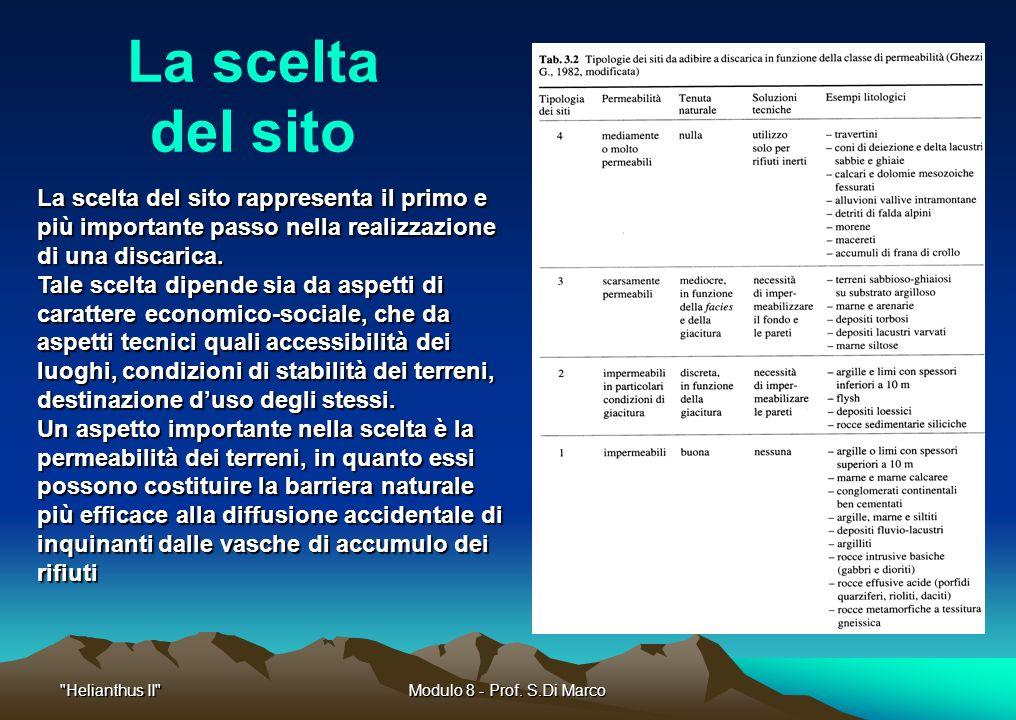 Helianthus II Modulo 8 - Prof.