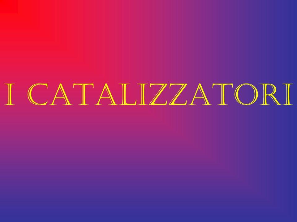 I CATALIZZATORI : Un catalizzatore è una sostanza (o dispositivo), che interviene in una reazione chimica aumentandone la velocità ma rimanendo inalterato al termine della stessa.
