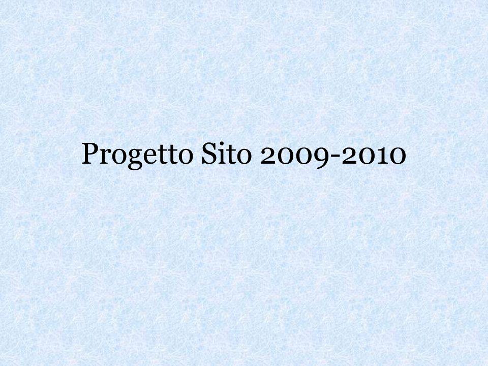 Progetto Sito 2009-2010