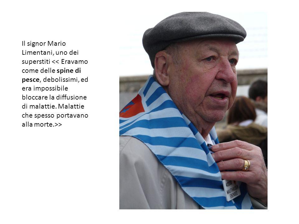 Il signor Mario Limentani, uno dei superstiti >