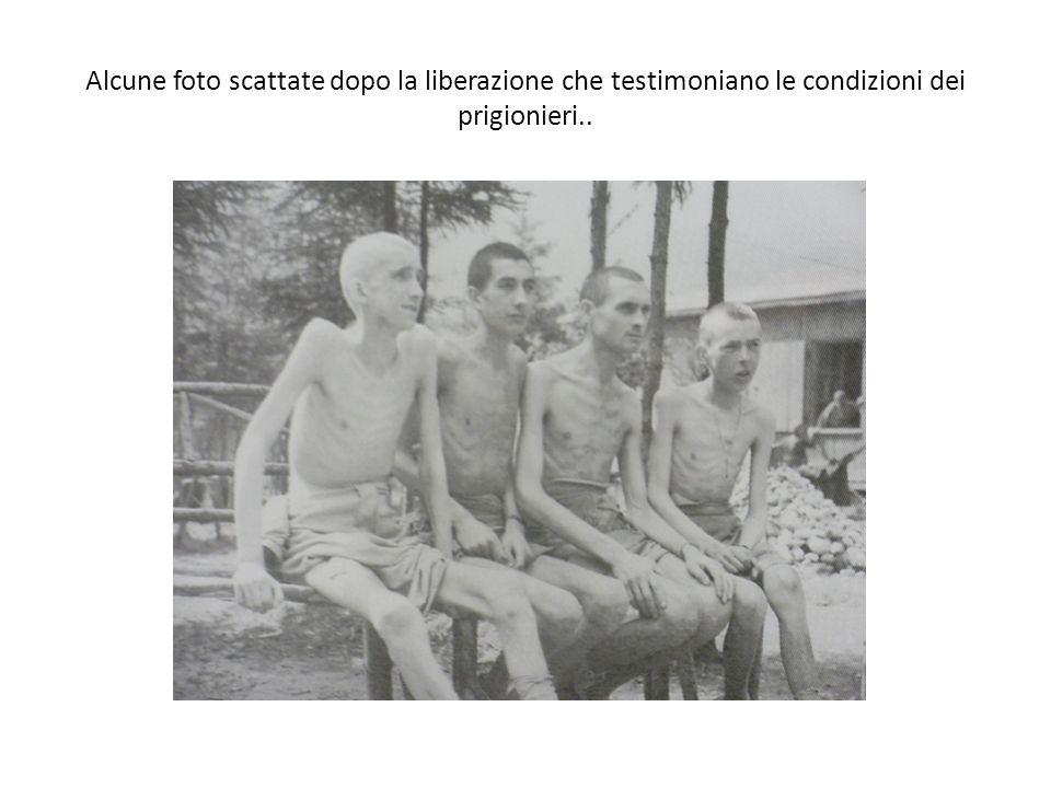 Alcune foto scattate dopo la liberazione che testimoniano le condizioni dei prigionieri..