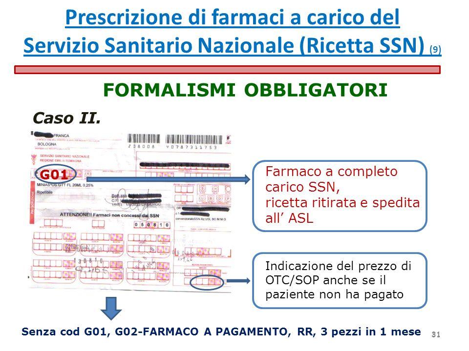 Senza cod G01, G02-FARMACO A PAGAMENTO, RR, 3 pezzi in 1 mese FORMALISMI OBBLIGATORI Farmaco a completo carico SSN, ricetta ritirata e spedita all ASL
