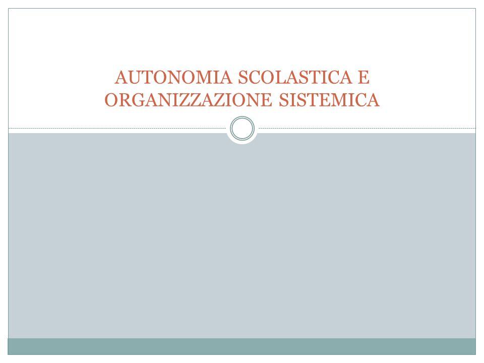 FINALITA DELLAUTONOMIA SCOLASTICA IL REGOLAMENTO DELLAUTONOMIA SCOLASTICA, DPR 275/99, EMANATO AI SENSI DELLART.