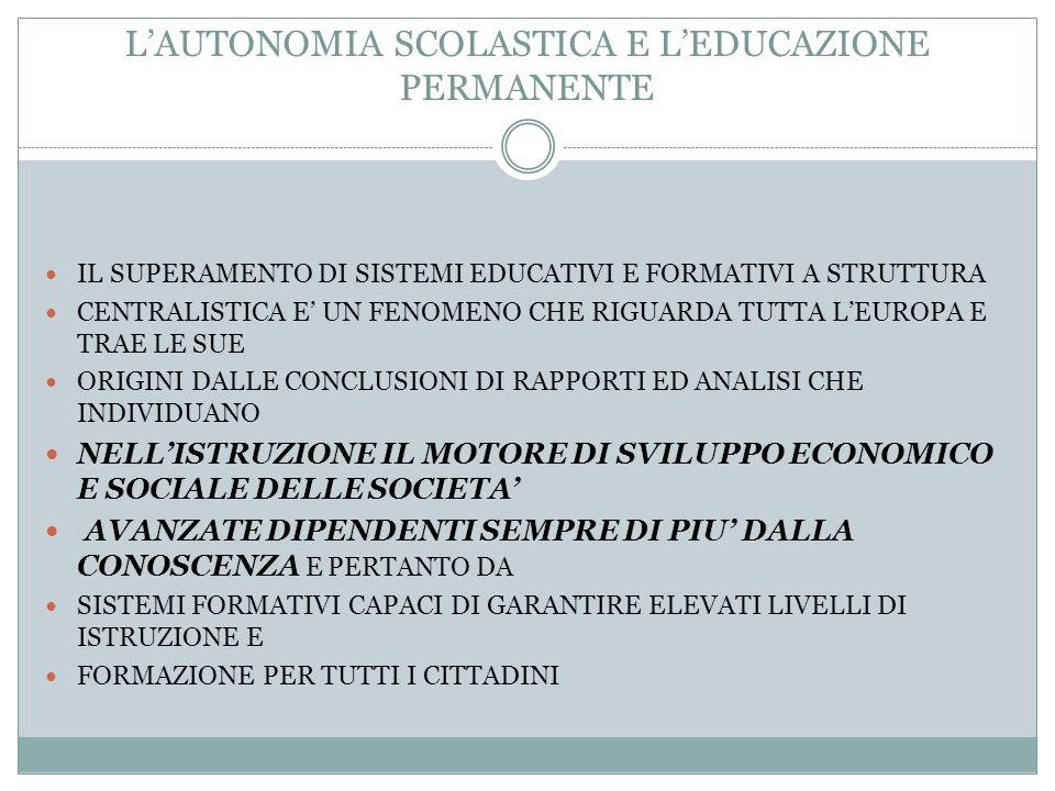 LE COMPETENZE DELLO STATO E DELLE AUTONOMIE LOCALI IN MATERIA DI ISTRUZIONE 2) LART.