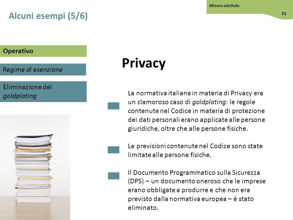 Privacy La normativa italiana in materia di Privacy era un clamoroso caso di goldplating: le regole contenute nel Codice in materia di protezione dei
