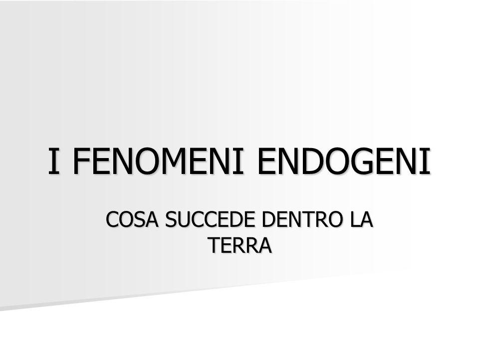 I FENOMENI ENDOGENI COSA SUCCEDE DENTRO LA TERRA