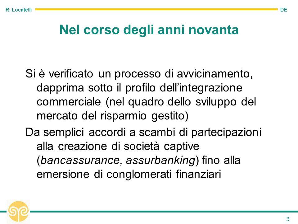 DE R. Locatelli 3 Nel corso degli anni novanta Si è verificato un processo di avvicinamento, dapprima sotto il profilo dellintegrazione commerciale (n
