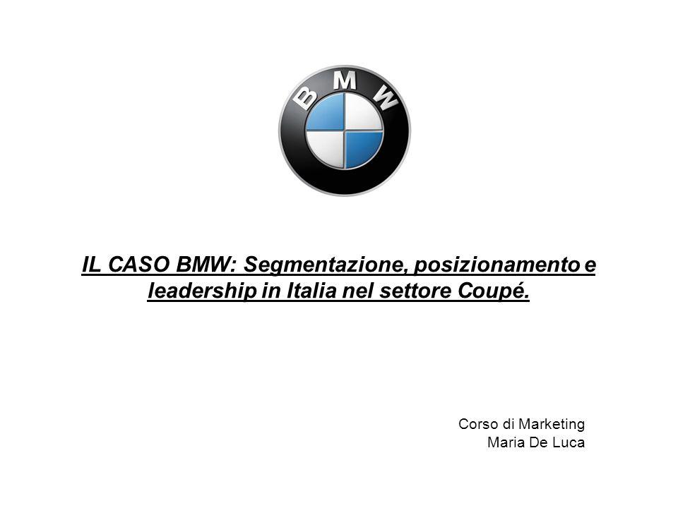 ETA MEDIA (ANNI) 3548 ISTRUZIONE Diploma scuola media inferiore6%12% Diploma scuola superiore47%35% Università47%53% OCCUPAZIONE Professionista27%22% Imprenditore10%21% Middle Manager7%3% Altro56%54% REDDITO MEDIO () 69.00081.000 BMW Serie 3 Coupé, Mercedes CLK: i due target a confronto.