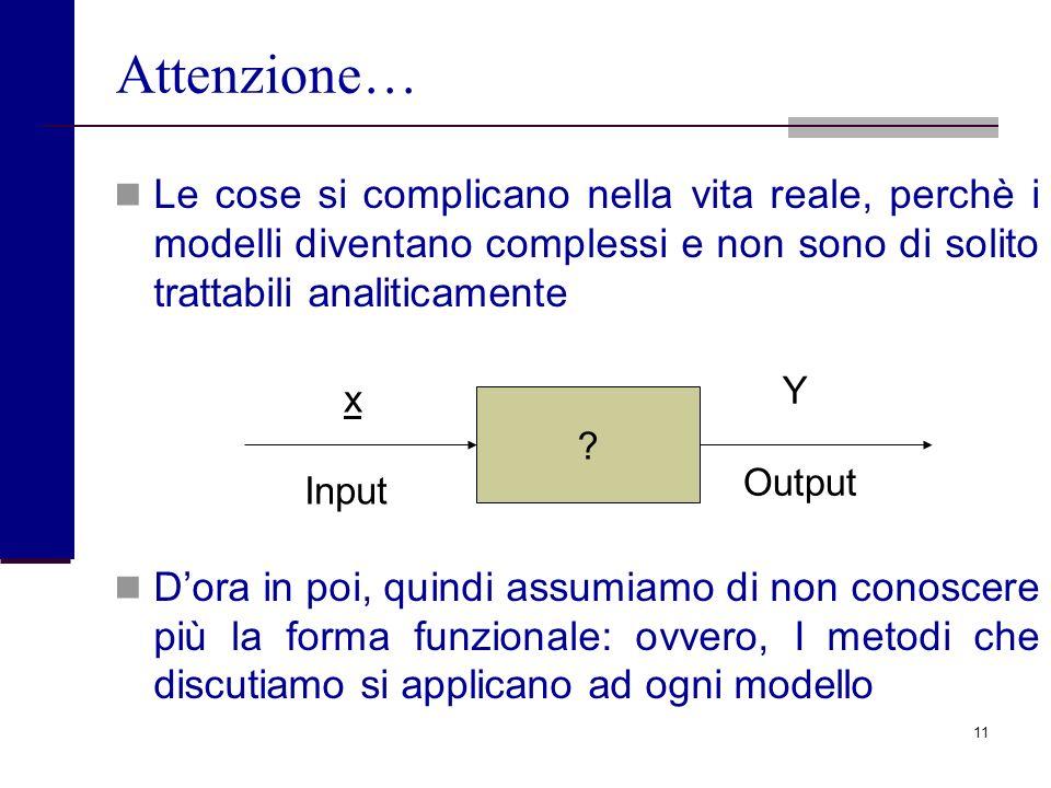 10 Un primo uso dellanalisi di sensibilità Cosa succede se m passa dal suo valore di riferimento al suo doppio, da m 0 a 2m 0 ? Dettagliamo meglio la