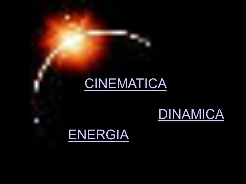 CINEMATICA DINAMICA ENERGIA