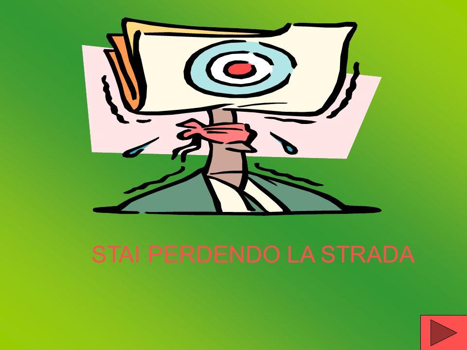STAI PERDENDO LA STRADA