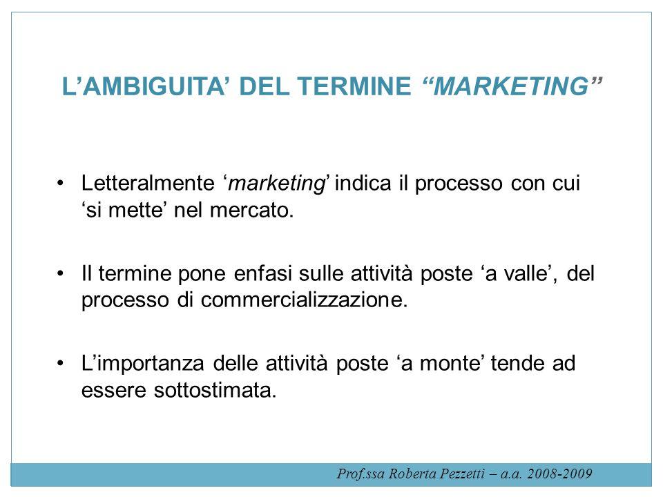 Fonte: J.J. Lambin, Market-driven Management. Marketing Strategico e Operativo, MCGraw Hill, 2008