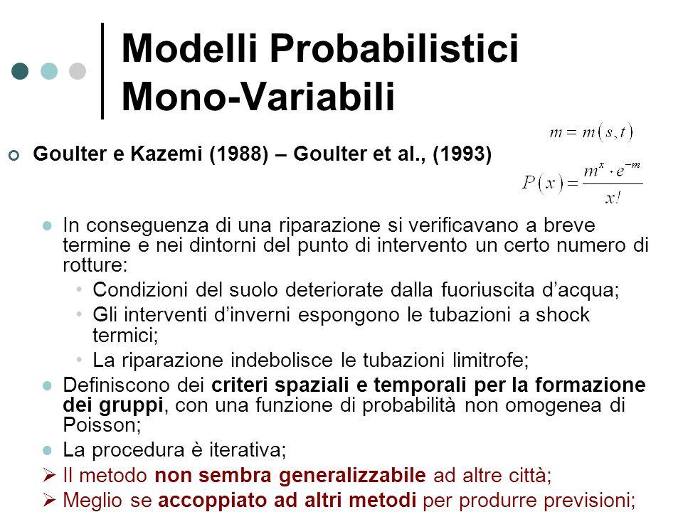 Goulter e Kazemi (1988) – Goulter et al., (1993) In conseguenza di una riparazione si verificavano a breve termine e nei dintorni del punto di interve