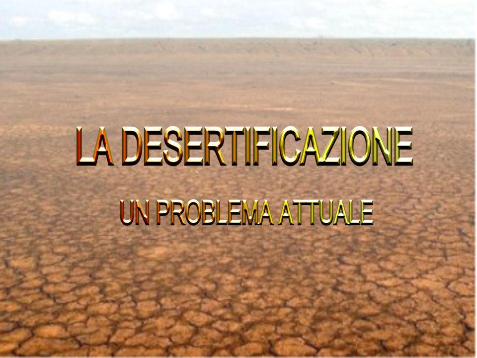 La desertificazione, cioè laumento delle zone desertiche, è un problema grave che interessa molti Paesi del mondo.