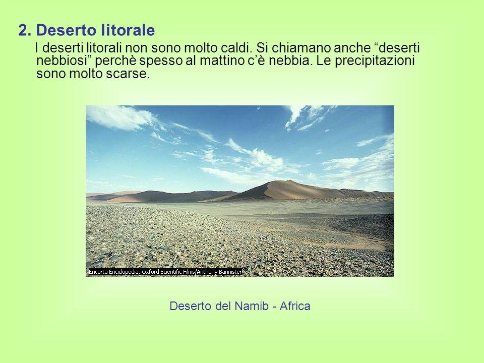 3.Deserto a ridosso di catene montuose La temperatura cambia a seconda della zona.