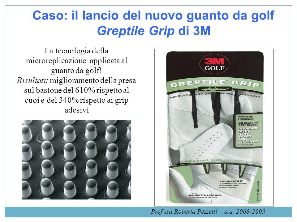Caso: il lancio del nuovo guanto da golf Greptile Grip di 3M La tecnologia della microreplicazione applicata al guanto da golf! Risultati: miglioramen