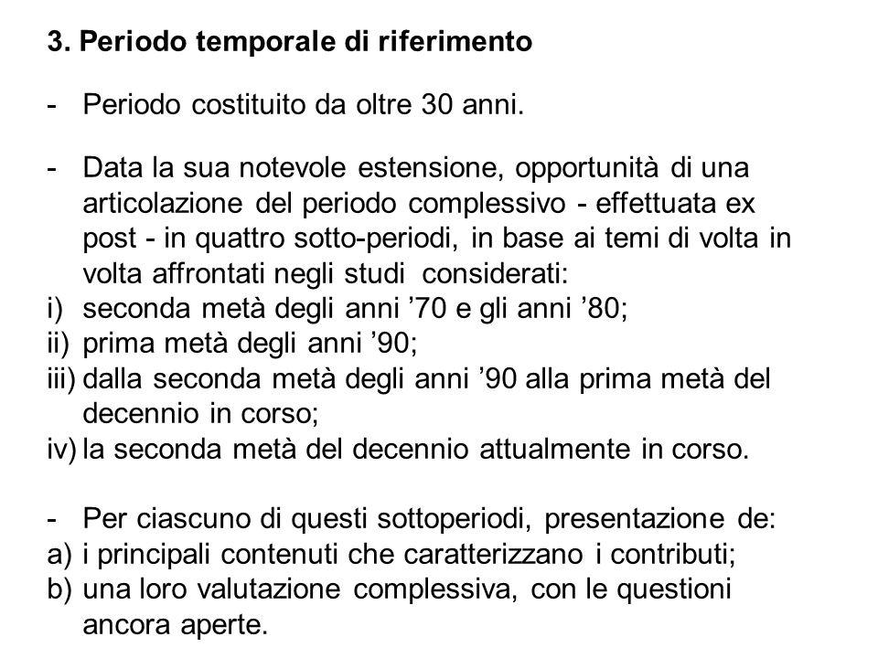 3. Periodo temporale di riferimento -Periodo costituito da oltre 30 anni.