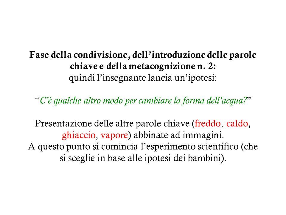 Introduzione del testo semplice n.1 Lacqua cambia forma.