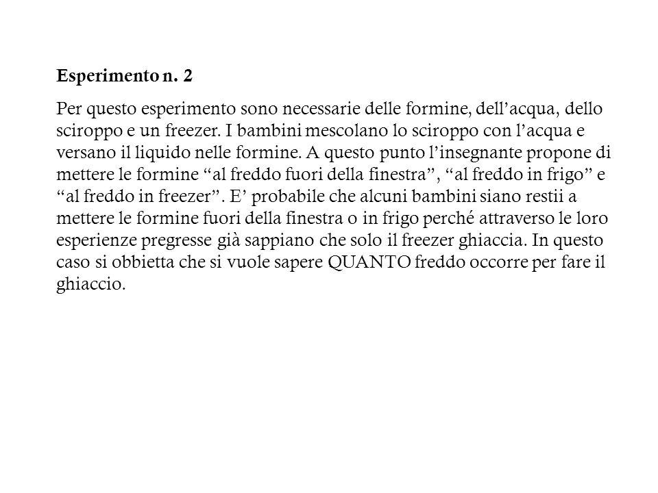 Introduzione del testo semplice n.3 Abbiamo messo lacqua e la menta nelle formine.