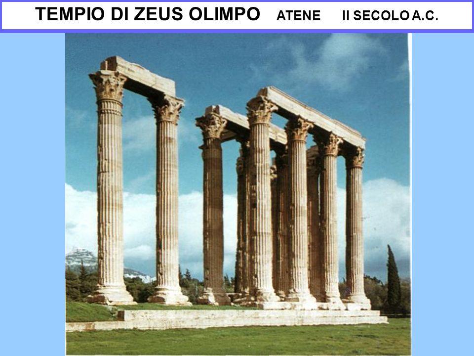 TEMPIO DI ZEUS OLIMPO ATENE II SECOLO A.C.