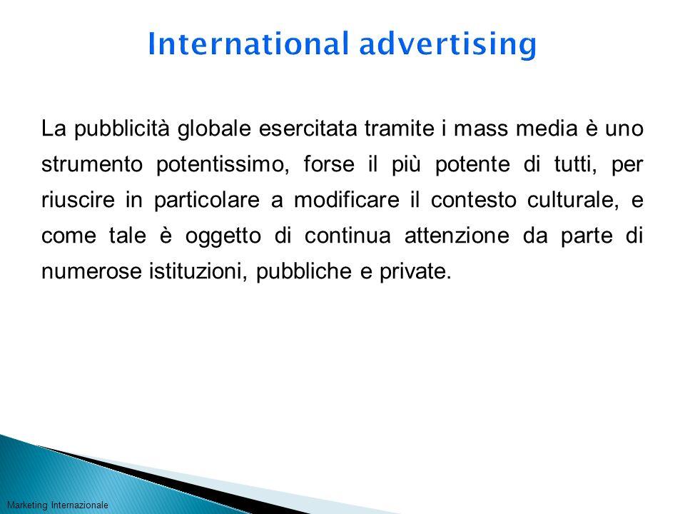 La pubblicità globale esercitata tramite i mass media è uno strumento potentissimo, forse il più potente di tutti, per riuscire in particolare a modif