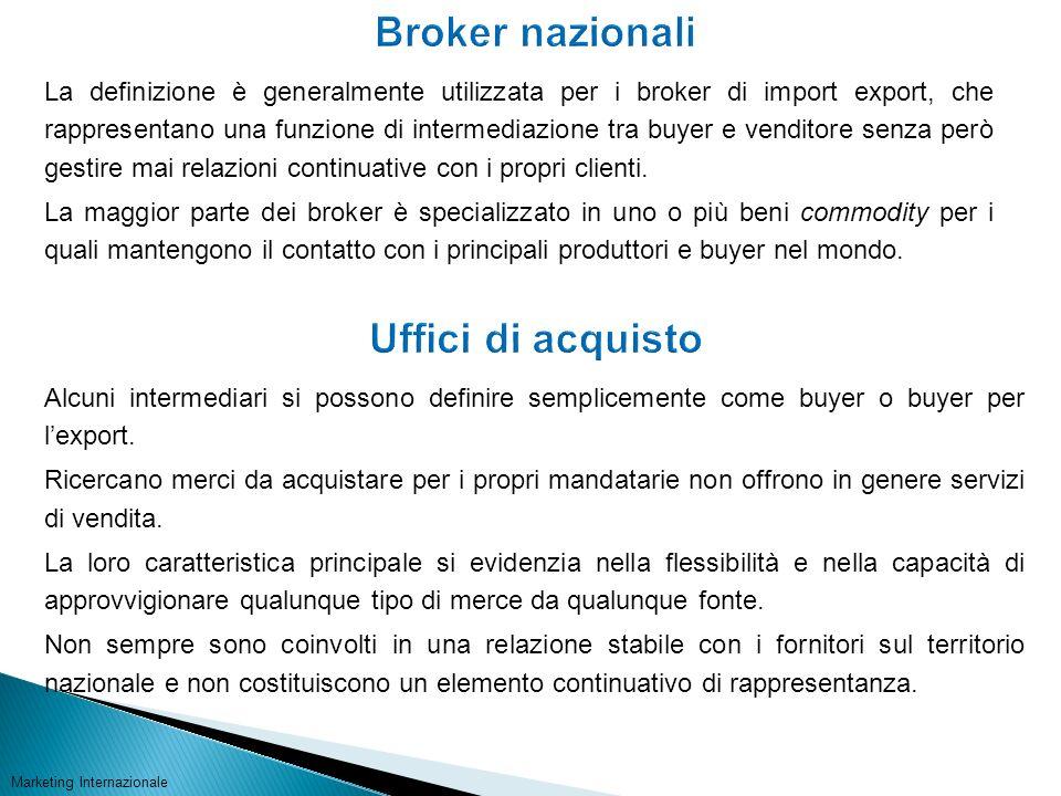 La definizione è generalmente utilizzata per i broker di import export, che rappresentano una funzione di intermediazione tra buyer e venditore senza