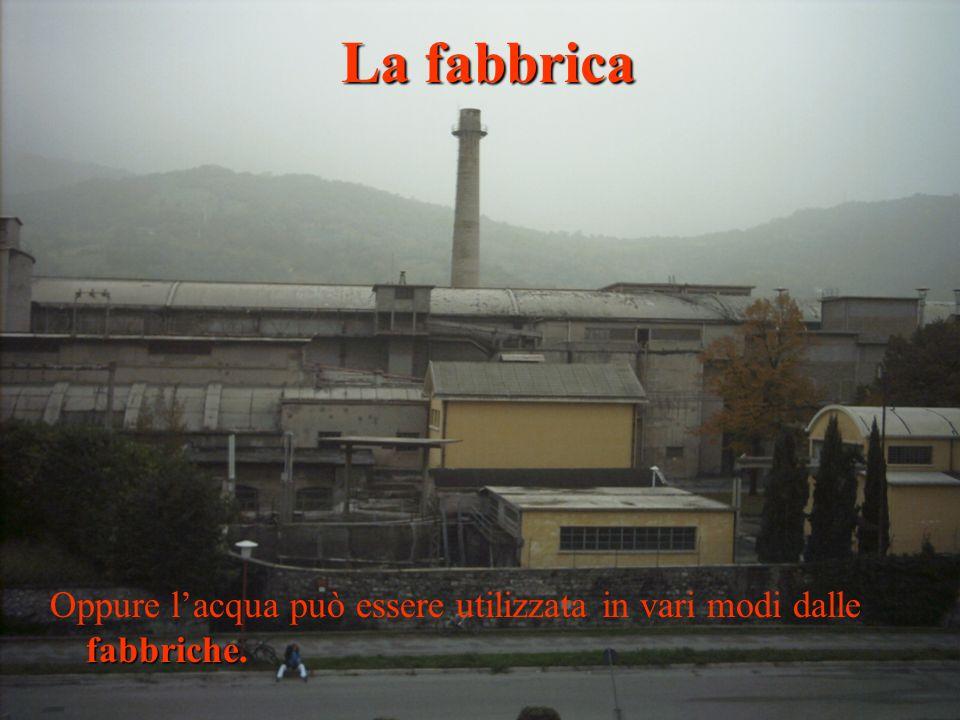fabbriche Oppure lacqua può essere utilizzata in vari modi dalle fabbriche. La fabbrica