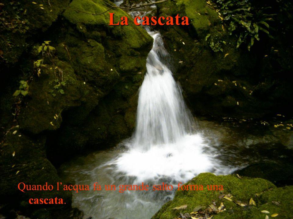 cascata Quando lacqua fa un grande salto forma una cascata. La cascata